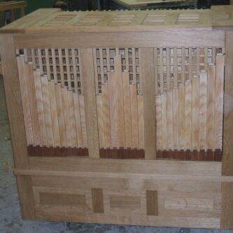 4 Register Truhenorgel (Holzpfeifenprospekt)